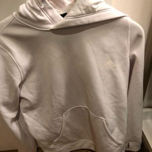 Adidas all whit hoodie